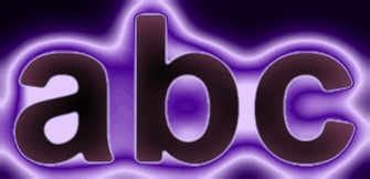 Purple Light and Glow Text Effect 5