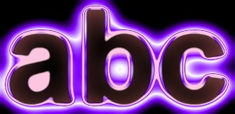 Purple Light and Glow Text Effect 7