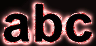 Red Light and Glow Text Effect 10