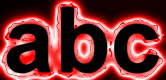 Red Light and Glow Text Effect 11