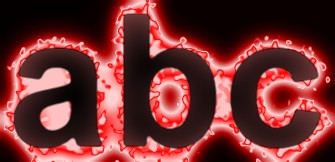 Red Light and Glow Text Effect 14