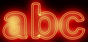 Red Light and Glow Text Effect 1