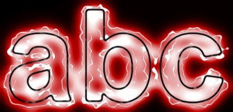 Red Light and Glow Text Effect 3