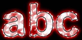 Red Light and Glow Text Effect 6