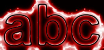 Red Light and Glow Text Effect 8