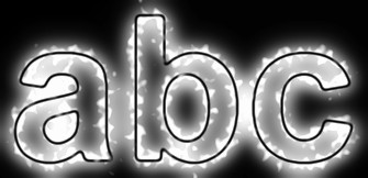 White Light and Glow Text Effect 1