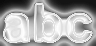 White Light and Glow Text Effect 2
