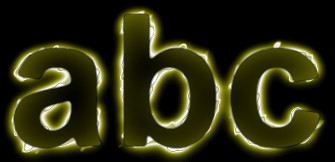 Yellow Light and Glow Text Effect 13