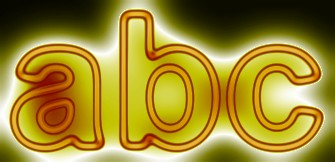 Yellow Light and Glow Text Effect 14