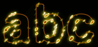 Yellow Light and Glow Text Effect 15