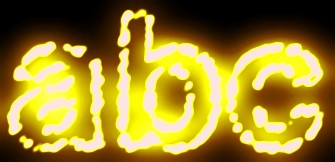 Yellow Light and Glow Text Effect 19