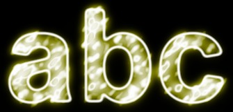 Yellow Light and Glow Text Effect 1