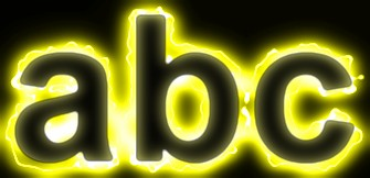 Yellow Light and Glow Text Effect 20