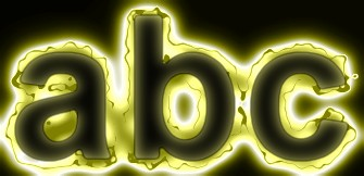 Yellow Light and Glow Text Effect 21