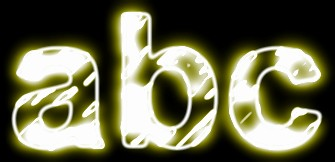 Yellow Light and Glow Text Effect 2