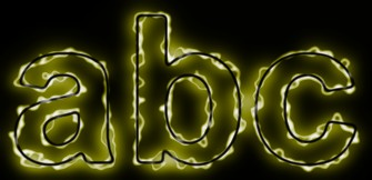 Yellow Light and Glow Text Effect 3