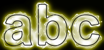 Yellow Light and Glow Text Effect 4