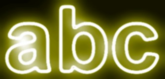 Yellow Light and Glow Text Effect 7