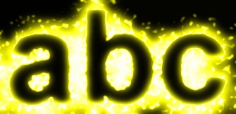 Yellow Light and Glow Text Effect 9