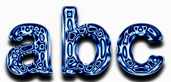 Blue Metallic Text Effect 11