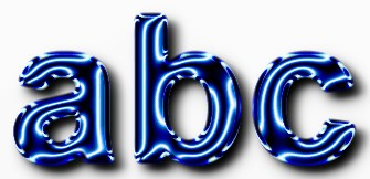 Blue Metallic Text Effect 12
