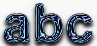 Blue Metallic Text Effect 13