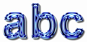 Blue Metallic Text Effect 2