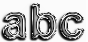 Gray Metallic Text Effect 1