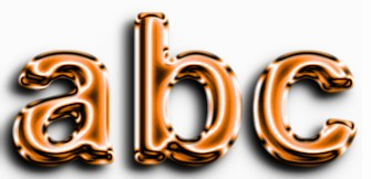 Orange Metallic Text Effect 2