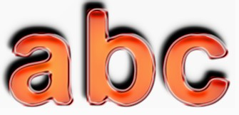 Orange Metallic Text Effect 1