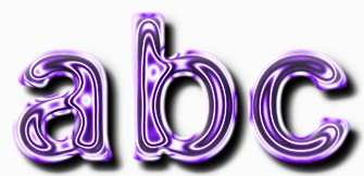 Purple Metallic Text Effect 2