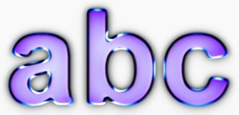 Purple Metallic Text Effect 4