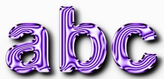 Purple Metallic Text Effect 5
