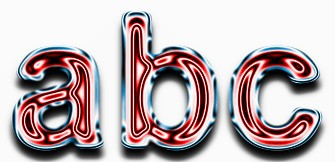 Red Metallic Text Effect 2