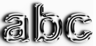 Silver Text Effect 7