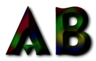 how to add a rainbow effect to text