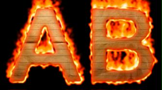 Burning Paper Text Logo Effect 1