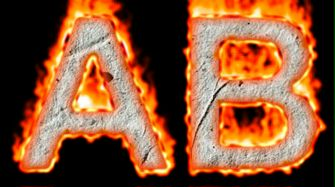 Burning Paper Text Logo Effect 5