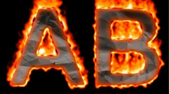 Burning Paper Text Logo Effect 6