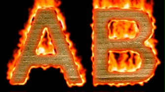 Burning Paper Text Logo Effect 9