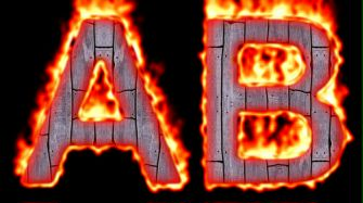 Burning Wood Text Logo Effect 3