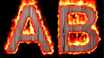 Burning Wood Text Logo Effect 4