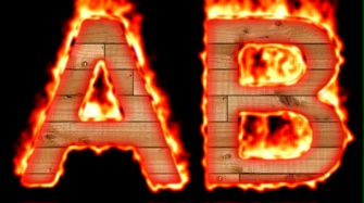 Burning Wood Text Logo Effect 5