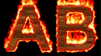 Burning Wood Text Logo Effect 6