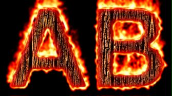 Burning Wood Text Logo Effect 7