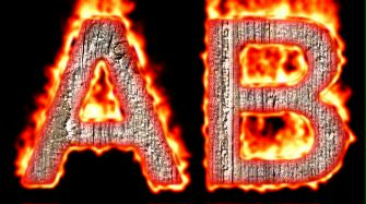 Burning Wood Text Logo Effect 9