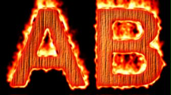 Burning Wood Text Logo Effect 10