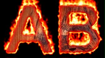 Burning Wood Text Logo Effect 11