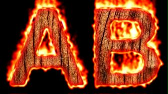 Burning Wood Text Logo Effect 13