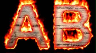 Burning Wood Text Logo Effect 14